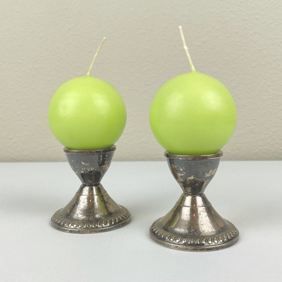 VTG Logum Kloster Lys Danish Electric Green Spherical Ball Candles Set of 4   Ma